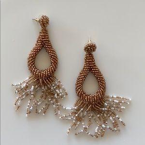 Anthropologie beaded drop earrings.